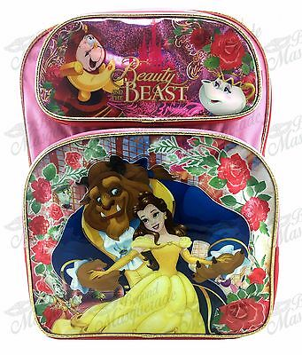 "16"" Disney Belle Beauty and the BEAST Girl Large School Backpack"