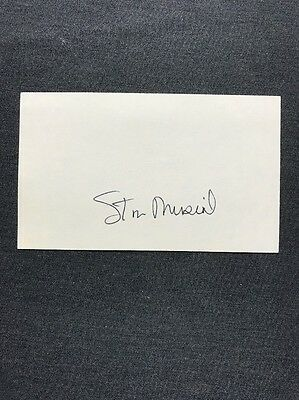 Stan Musial Autograph Signed 3X5 Hall Of Fame