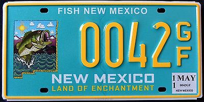 """NEW MEXICO """" WILDLIFE FISH - BASS """" # 42 ENTCHANTMENT NM Graphic License Plate"""
