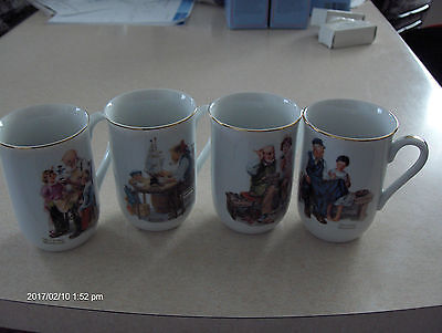 Vintage Norman Rockwell  Collectible Coffee/tea Cups