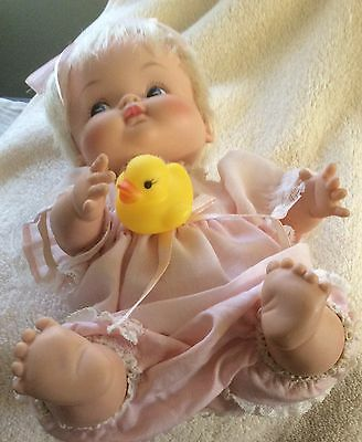 "Little Shavers 10""Original Doll&I Re-Stung&Re-Dressed with her Baby Duckie"