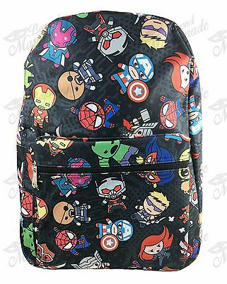"16"" Marvel Avengers All Print Boys Large School Backpack (Black)"