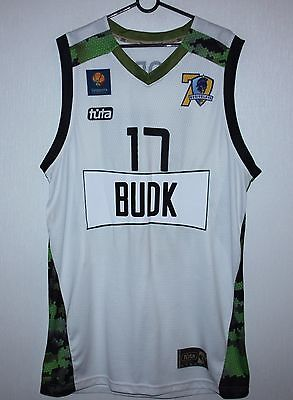 BC Budivelnyk Ukraine basketball match worn shirt #17 Motorchuk