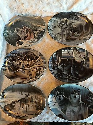 """SHADOW GUARDIAN"" DANIEL RENN PIERCE Bradex Collector Plates 1, 2, 3, 4, 5, 6"