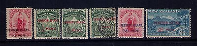 NEW ZEALAND PENRHYN ISLANDS STAMPS SC#2;5;6;8 MH/USED ,Cat.$32