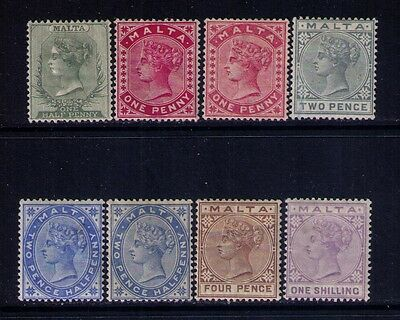 MALTA STAMPS Sc# 8-13 MH/MNG SHADES CAT.$249 RARE