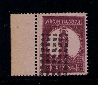 VIRGIN ISLANDS STAMP SC# 16 USED WITH LABEL Cat.$70