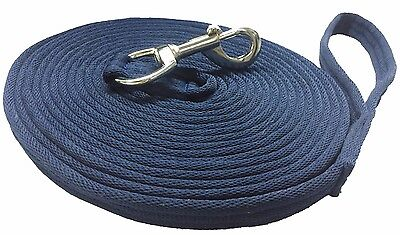 Nylon Lunging Reins Horse Training Aid Lung Line Lunging Rope 8 & 4 Meter Navy