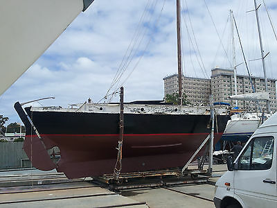 Colin Archer design 34 foot gaff rigged timber ketch / yacht.