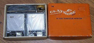 THE CLAYMORE regd. DE LUXE TRANSISTOR INTERCOM - VINTAGE IN ORIGINAL BOX SEE PIC