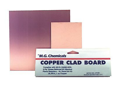 MG Chemicals 500 Series Copper Clad Prototyping Board with 1-Ounce Copper 1/1...