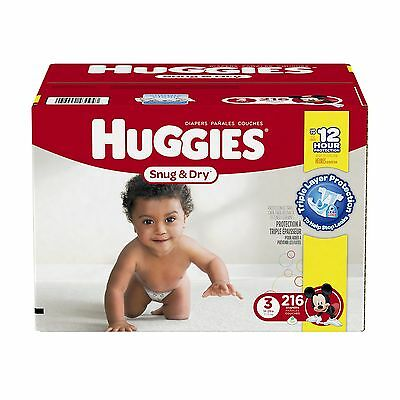 Huggies Snug and Dry Diapers Step 3 Economy Plus 216-Count Size 3