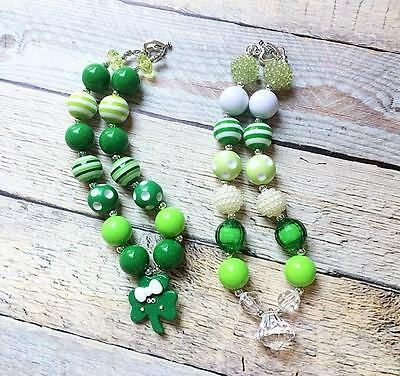 New St. Patrick's Day Girls Chunky Necklaces