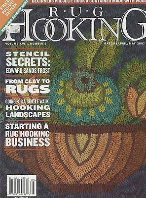 Rug Hooking Magazine Sheep Mar Apr May 2007 Free Pull-out Pattern Included