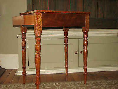 Antique Table 1820! Tiger Curly/birdseye Maple Canadian /american Sheraton Fed.