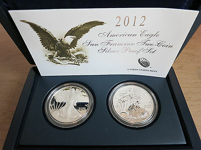 2012 American Eagle San Francisco Two Coin Silver Proof Set  (w/Box & CoA)