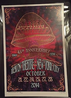 Allman Brothers Poster Final Beacon Shows 2014 Bradley