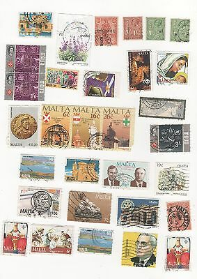 Malta Selection Of Used Postage Stamps