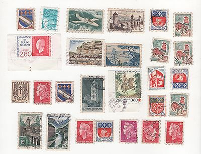 France  Selection Of Used Postage Stamps