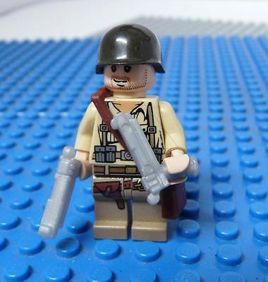 LEGO Minifig Custom Army Figure with silver Guns x 1PC