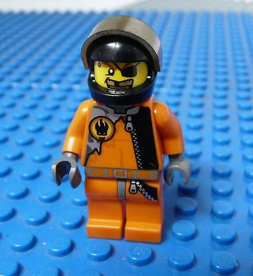 LEGO Minifig Agents Gold Tooth Black Helmet x 1PC
