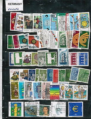 GERMANY / EUROPA  GROUP of over 50 cat $13. USED see scan  #variuos  LOT GERMANY