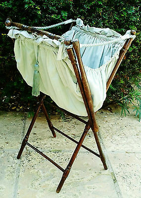 Pretty Period Knitting/sewing Bag On Folding Stand