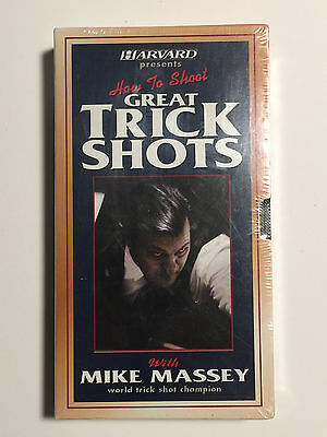 Harvard Presents: How To Shoot Great Trick Shots W/ Mike Massey - VHS - UNOPENED