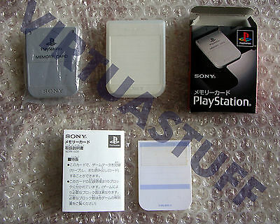 Sony, Memory Card, Playstation, Psone, Scph-1020, Jap, Completa, Like Brand New!
