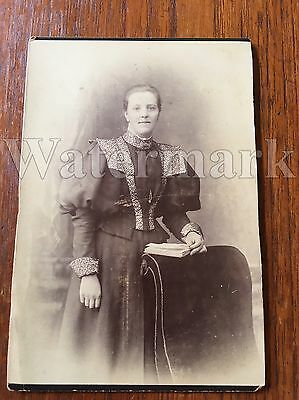 Vintage Antique Photograph On Cardboard Woman  Late 1800's Scotland Photo