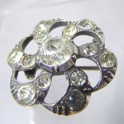 Georgian Silver and Paste Lace Pin Brooch