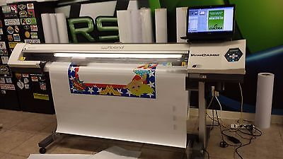 ROLAND SP-540i VERSACAMM ECO SOLVENT PRINTER/CUTTER EXCELLENT CONDITION!