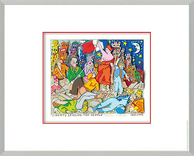 "Original James Rizzi 3D Bild "" Liberty Leading the people"" NEU handsigniert !"