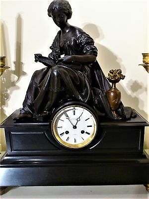 19th Century French Figural Mantel Clock by C. Detouche.
