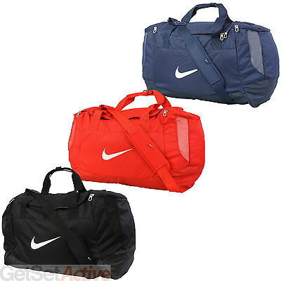 Nike Club Swoosh Small Medium Large Sports Gym Football Grip Duffel Duffle Bag