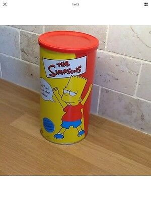 Simpsons Old Storage Tin Collectable Bart Simpson