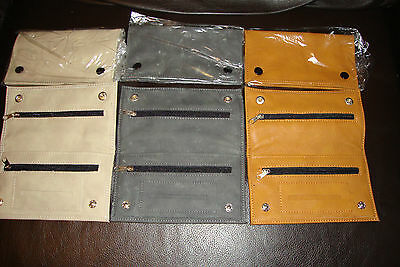 Great Quality Soft Leather Tobacco Pouch Fully Lined Zipped Lighter Rizla Slot