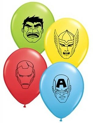 """Avengers 5"""" Small Latex Balloons x 10 Birthday Party Decoration Thor Ironman"""