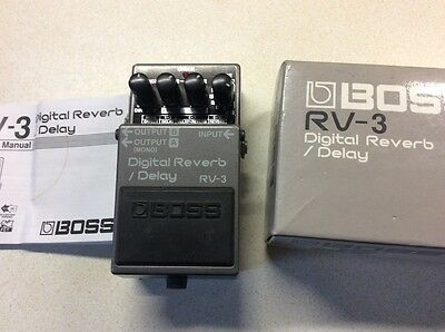 Boss RV3 Reverb Delay Boxed Superb Condition Classic