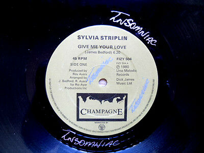 "Sylvia Striplin Give Me Your Love / You Can't Turn Me Away Disco 12"" Fizy 504"