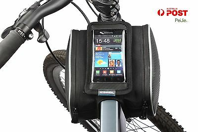 Roswheel MTB Bicycle Bike Cycling Cell Phone Holder Frame Double Bag Case Pouch