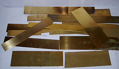 Gauge O – 7mm – Etched Brass Straight Wider Lengths - 20+ - ex kits - see note H