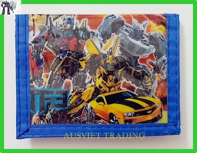 new Transformers Bumblebee boys kids children cartoon Wallet tri-fold coin purse