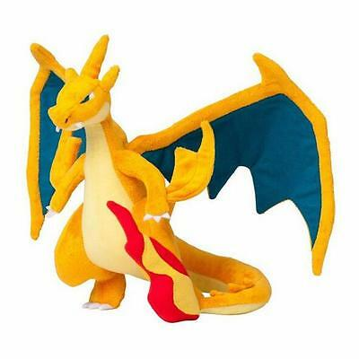 "Cute Genuine Pokemon Charizard Mega X 30cm/12"" Soft Plush Stuffed Doll Toy"