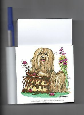 Lhasa Apso Memo Magnet by Mike McCartney