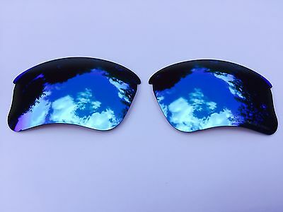 Engraved Polarized Ice Blue Mirrored Replacement Oakley Flak Jacket Xlj  Lenses