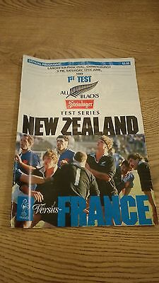 New Zealand v France 1st Test 1989 Rugby Union Programme