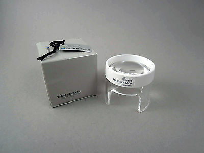 Aspheric stand magnifier magnifying glass by Eschenbach Germany 6x (2626)