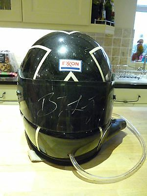 Genuine Butch Leitzinger Race Used & Signed Helmet RARE Le Mans Panoz era
