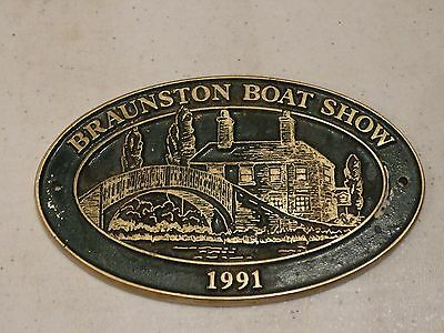 brass canal plaque